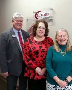 Beth Seibert, Jed Metzger, Karen Grothouse, Lima/Allen County Chamber of Commerce