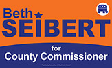 Beth Seibert for County Commissioner Logo